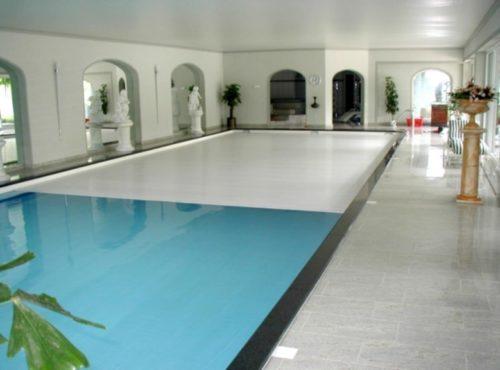Автоматические жалюзи для бассейна