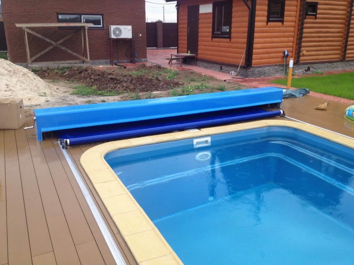 полуавтоматическое покрывало для бассейна