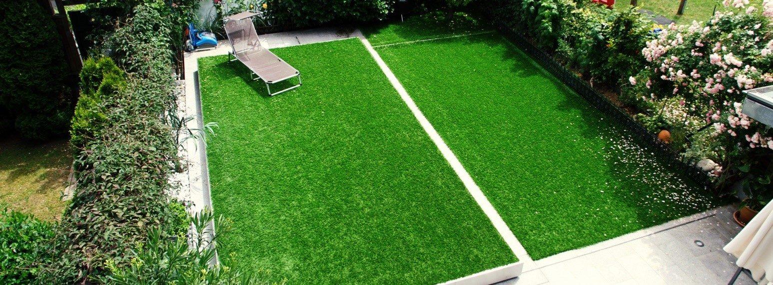 Отделка искусственной травой